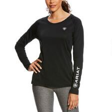 Ariat Sunstopper Crew Neck Long Sleeve Ladies Tee - TB