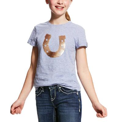 Ariat Sequin Horseshoe Girls Tee