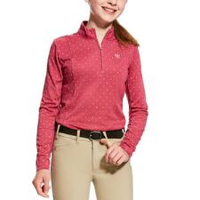 Ariat Sunstopper Quarter Zip Girls Schooling Shirt - TB