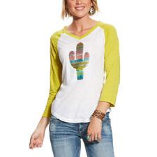 Ariat Saguaro Raglan Ladies Baseball Tee - TB