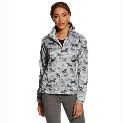Ariat Ideal Slate Horse Print Windbreaker