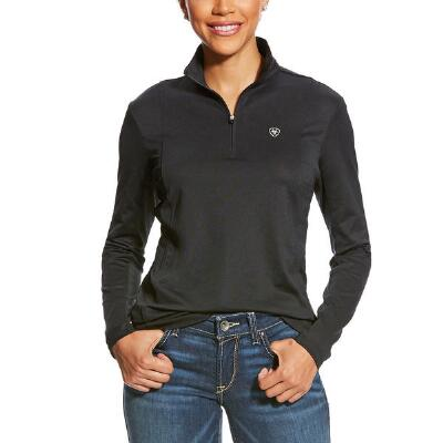 Ariat Sunstopper Solid Quarter Zip Ladies Shirt