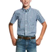 Ariat Milos Performance Boys Western Shirt - TB