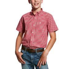 Ariat Obannion Performance Boys Western Shirt - TB