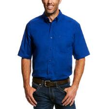 Ariat Solid Short Sleeve Mens Western Shirt - TB