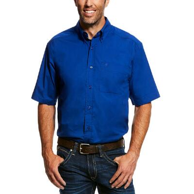 Ariat Solid Short Sleeve Mens Western Shirt