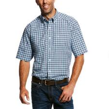 Ariat Milos Performance Short Sleeve Mens Western Shirt - TB