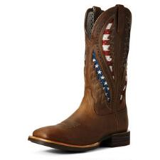 Western Cowboy Youth Brown & Red Temperate New Smoky Mountain Boots