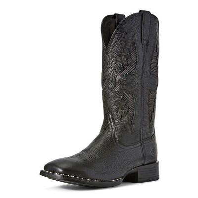 Ariat Solado VentTEK Black Carbon Mens Western Boot