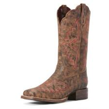 Ariat Round Up Santa Fe Distressed Ladies Western Boot - TB