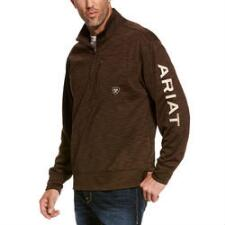 Ariat TEAM Logo Quarter Zip Mens Pullover - TB