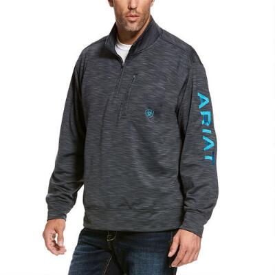 Ariat TEAM Logo Quarter Zip Mens Pullover