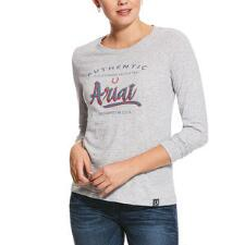 Ariat Script Logo Long Sleeve Ladies Tee - TB
