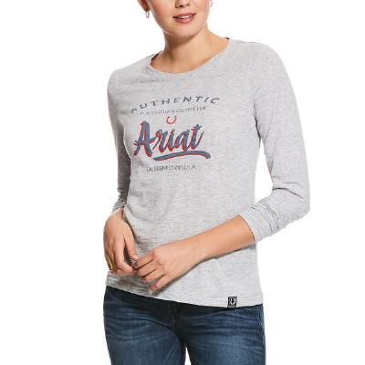 Ariat Script Logo Long Sleeve Ladies Tee