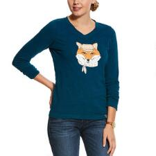 Ariat Dapper Fox Long Sleeve Ladies Tee - TB