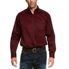 Ariat Classic Fit Burgundy Mens Western Shirt - TB
