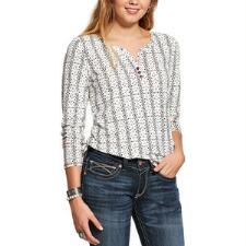 Ariat Keystone Print Ladies Henley - TB