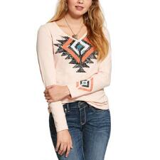 Ariat Rainbow Mountain Long Sleeve Ladies Tee - TB