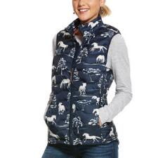Ariat Horse Print Ideal Down 3.0 Ladies Vest - TB