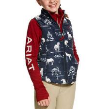 Ariat Horse Print Reversible Girls Vest - TB