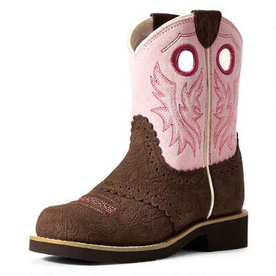 Ariat Fatbaby Cowgirl Tooled Girls Western Boot
