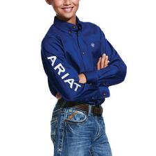 Ariat TEAM Logo Long Sleeve Boys Western Shirt - TB