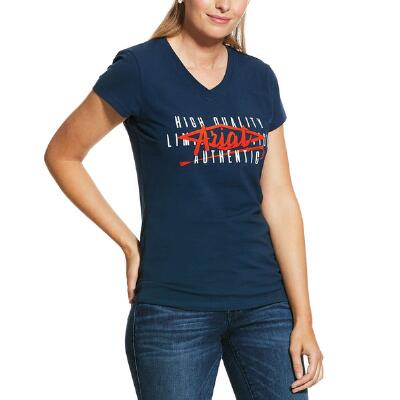 Ariat Crop Logo Short Sleeve Ladies Tee