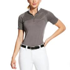 Ariat Airway Ladies Grey Short Sleeve Show Shirt - TB