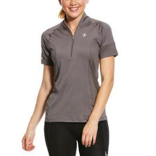 Ariat Cambria Jersey Short Sleeve Ladies Quarter Zip - TB