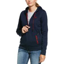 Ariat Keats Full Zip TEAM Ladies Hoodie - TB