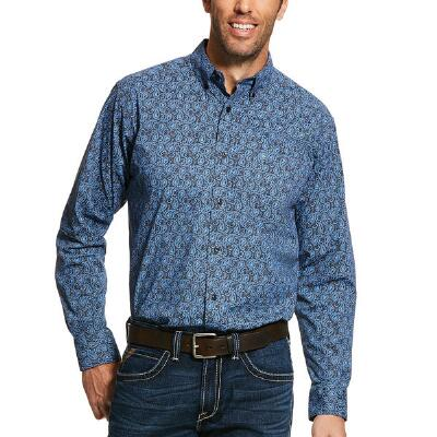 Ariat Mens Hanson Stretch Fitted Western Shirt