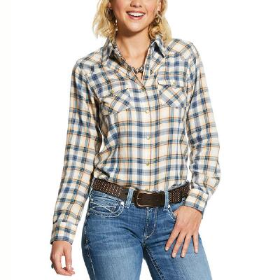 Ariat REAL Natural Snap Front Ladies Western Shirt