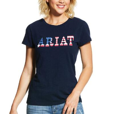Ariat REAL Stars and Stripes Ladies Short Sleeve Tee