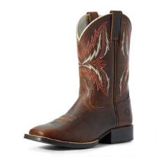 Ariat Arena Rebound Brown Youth Western Boot - TB
