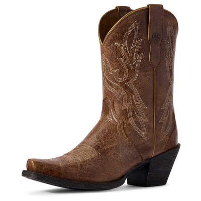 Ariat Round Up Bella Dark Tan Ladies Western Boot