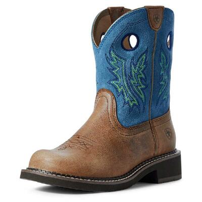Ariat Fatbaby Heritage Carmel Bluebird Ladies Western Boot