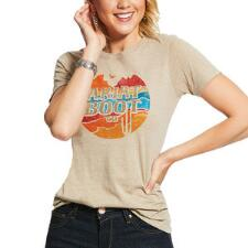 Ariat Boot Co Logo Short Sleeve Ladies Tee - TB