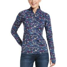 Ariat Lowell 2.0 Quarter Zip Ladies Pull Over - Blue Course - TB