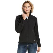 Ariat Black Aztec Softshell Ladies Jacket - TB