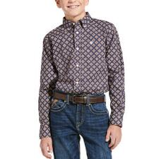 Ariat Jerri Classic Long Sleeve Boys Western Shirt - TB