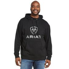 Ariat Rough Grain Logo Mens Hoodie - TB