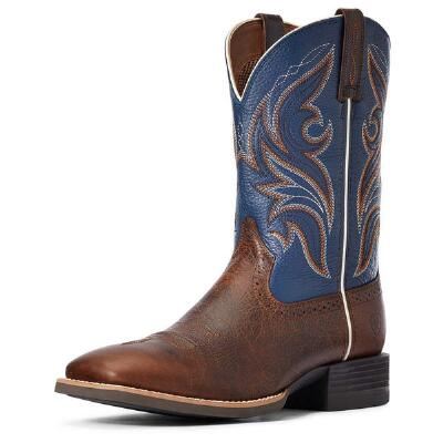 Ariat Sport Knockout Sheriff Blue Mens Western Boots