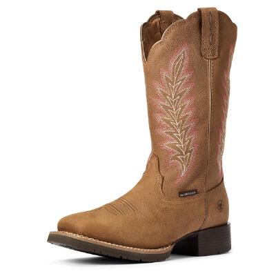 Ariat Hybrid Rancher H2O Pebbled Tan Ladies Western Boot