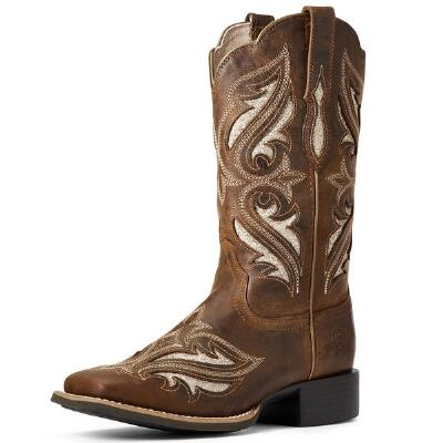 Ariat Round Up Sassy Brown Bliss Ladies Western Boot