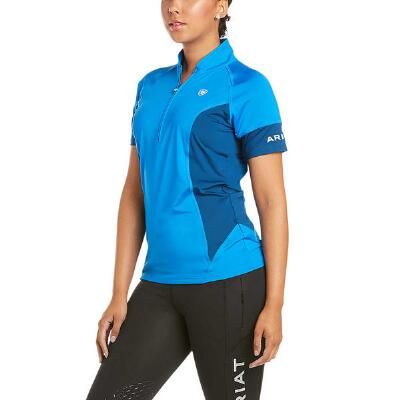 Ariat Cambria Short Sleeve Ladies Imperial Blue Quarter Zip