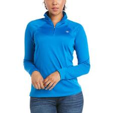 Ariat Sunstopper 2.0 Baselayer Ladies Imperial Blue Quarter Zip - TB