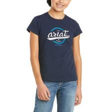 Ariat Authentic Logo Short Sleeve Girls Tee - TB