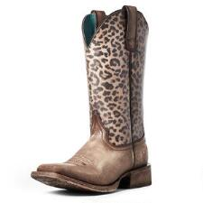 Ariat Circuit Savanna Distressed Leopard Ladies Boots - TB