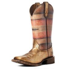 Ariat Circuit Savanna Gold Blanket Ladies Western Boots - TB