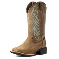 Ariat Round Up H2O Distressed Brown Ladies Western Boots - TB